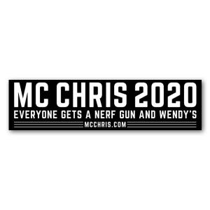 mc chris 2020 beto bumper magnet