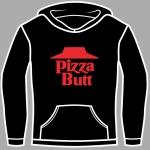 pizza butt logo hoodie