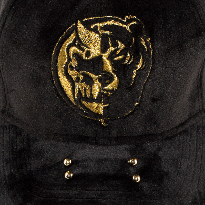 Split Icon Velour Strap Back Cap