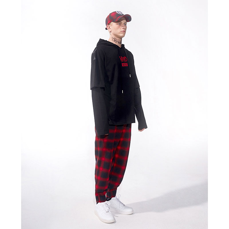Split Icon Oversized Weird World Hooded Tee