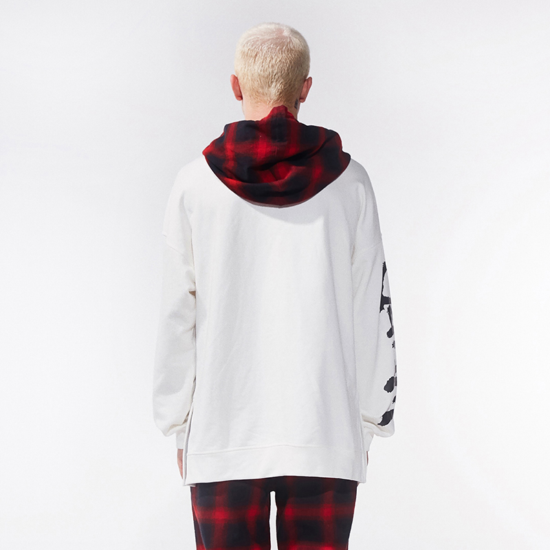 Weird World Tartan Hooded Pullover Hoodie