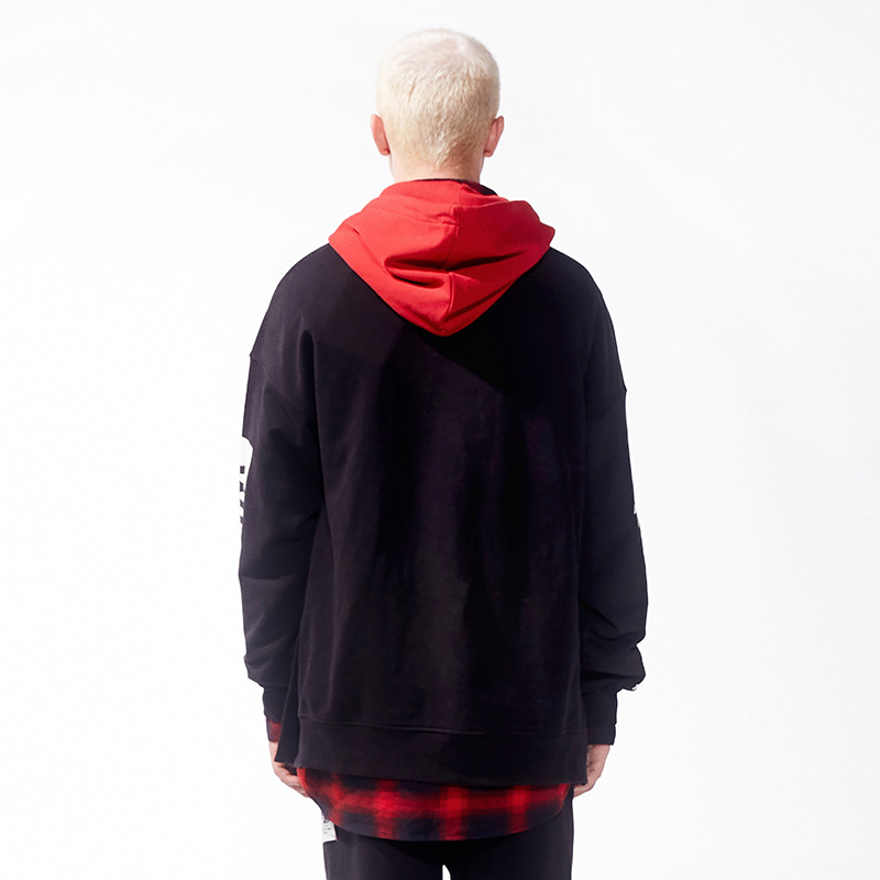 Weird World Red Hooded Pullover Hoodie