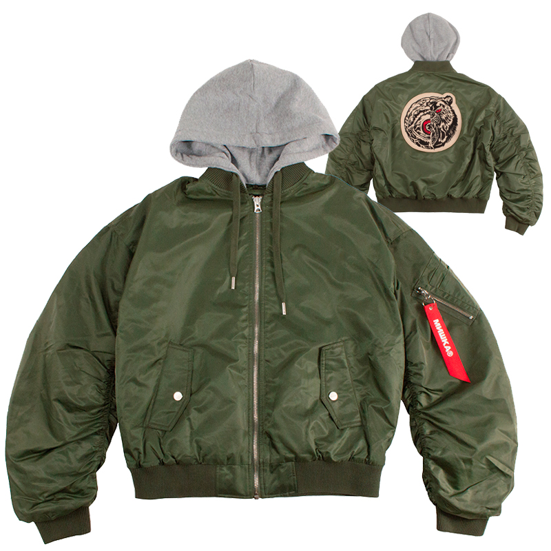 Lamour Split Icon Hooded Flight Jacket