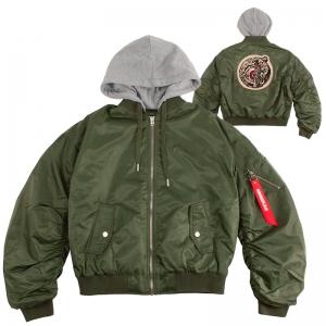 Lamour Split Icon Hooded Flight Jacket
