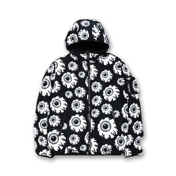 Keep Watch All Over Monochrome Zip Up Jacket