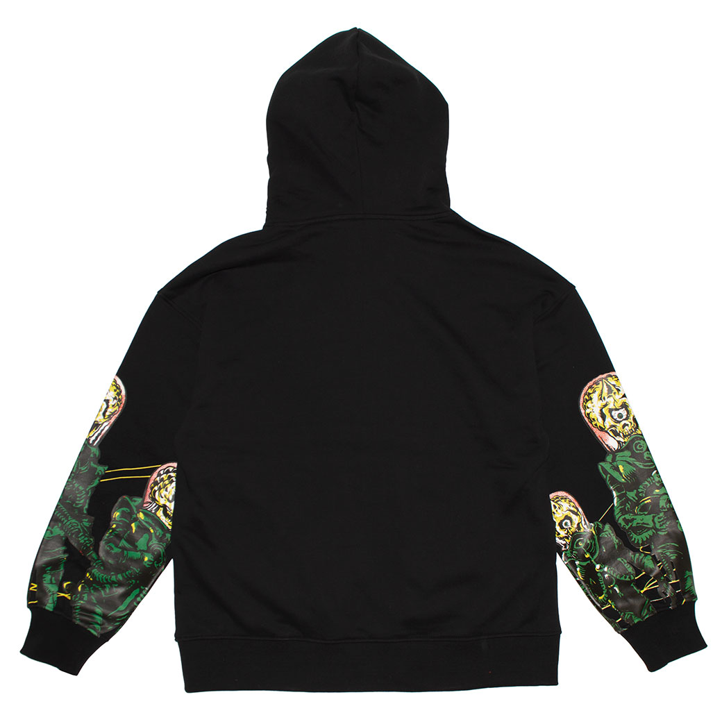 Lamour Attacks! Printed Sleeve Pullover Hoodie
