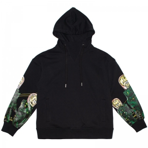 Lamour Attacks! Printed Sleeve Pullover Hoodie