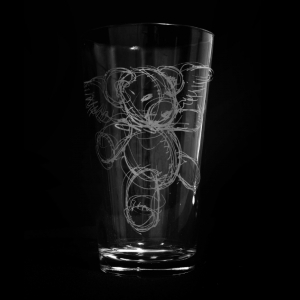 Teddy Pint Glass
