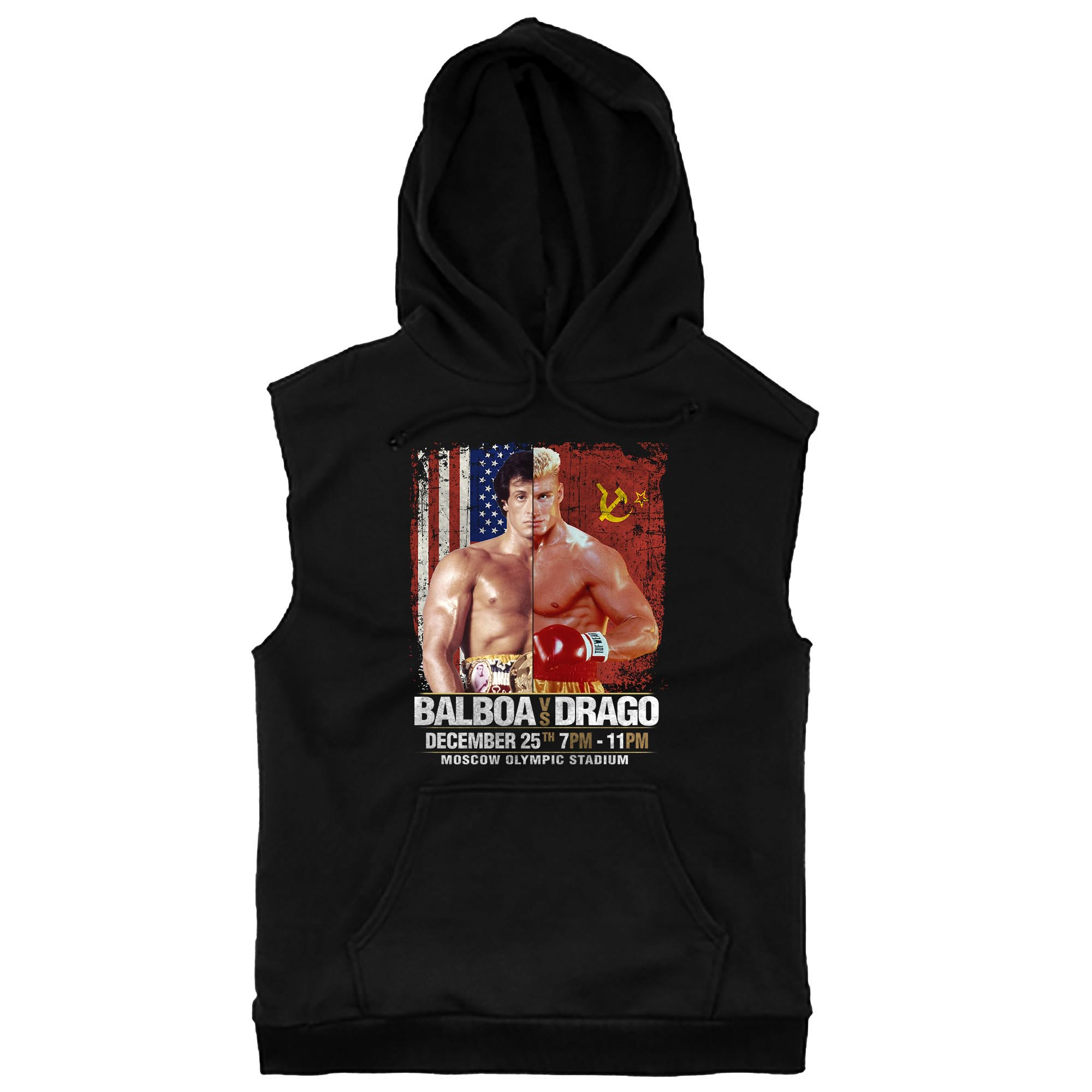 Balboa Vs. Drago Sleeveless Hoodie