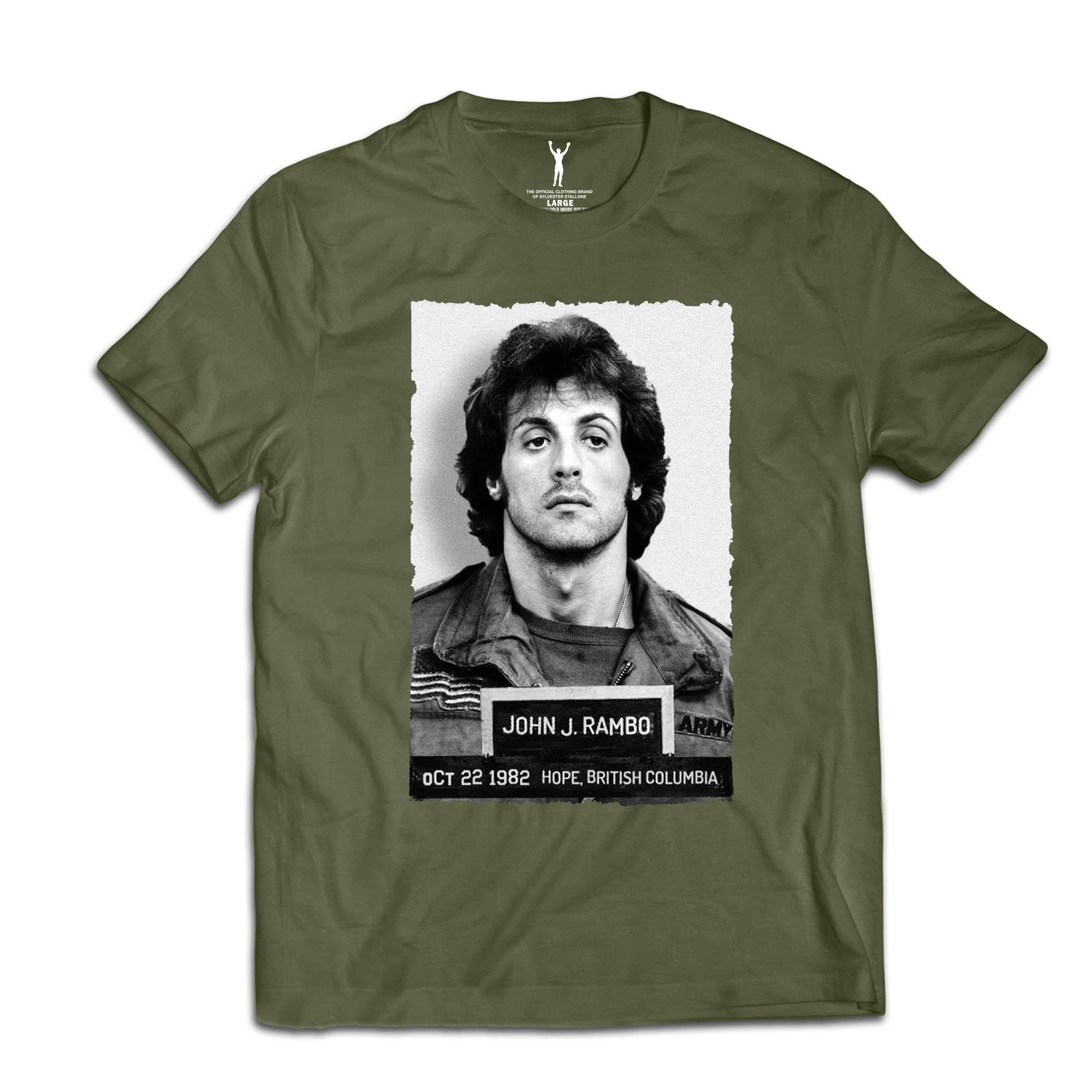 John Rambo Military Green Mugshot Tee
