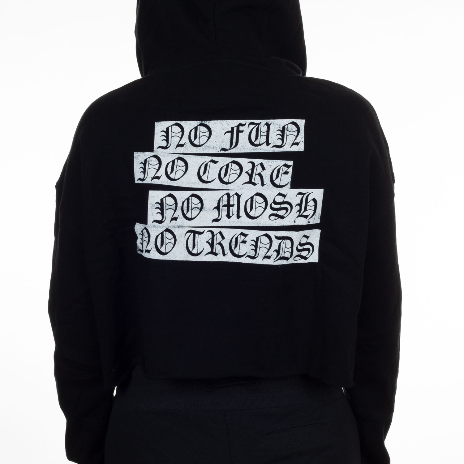 No Fun - Girls Cropped Pullover Hoodie