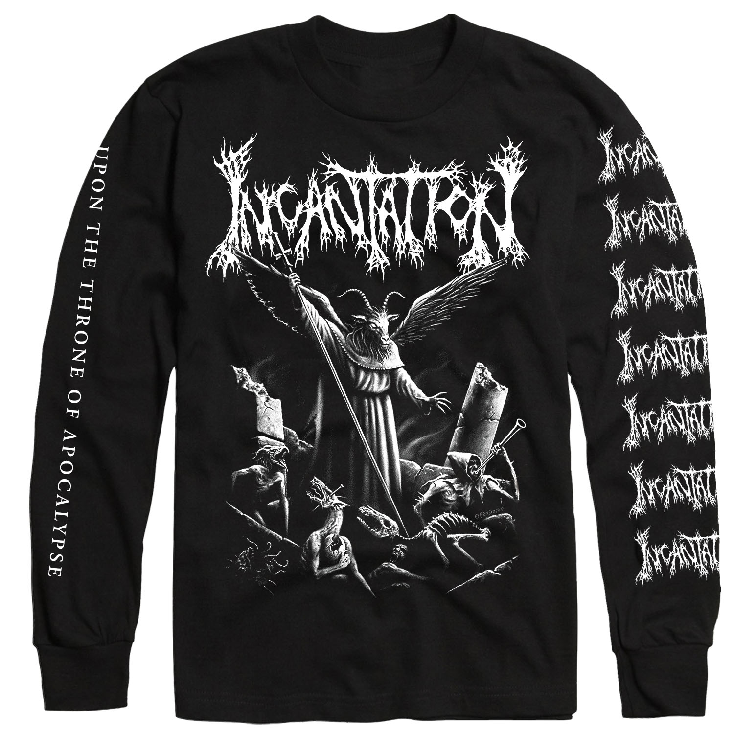 Upon the Throne of Apocalypse Reissue Longsleeve Shirt + CD Bundle