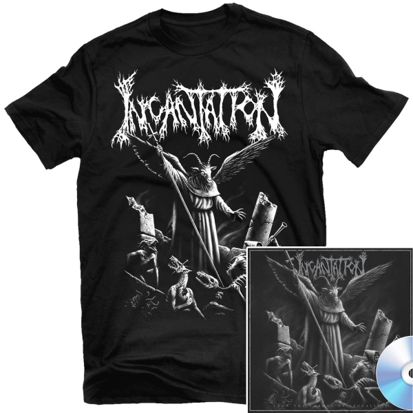 Upon the Throne of Apocalypse Reissue T Shirt + CD Bundle