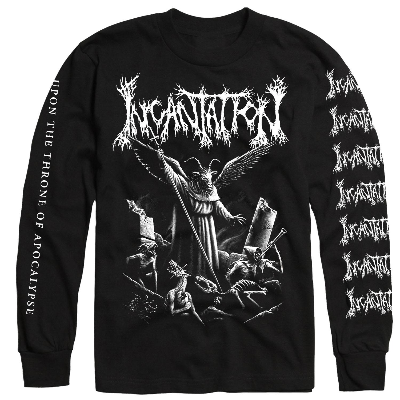 Upon the Throne of Apocalypse Reissue Longsleeve Shirt + LP Bundle