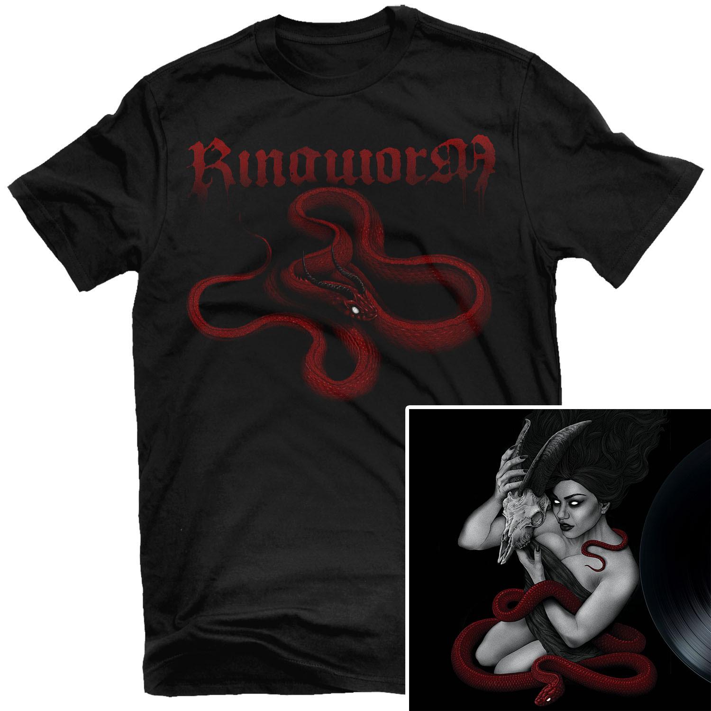 Death Becomes My Voice T Shirt + LP Bundle