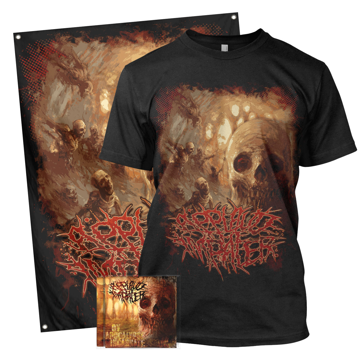 Ov Apocalypse Incarnate Tee + CD Bundle