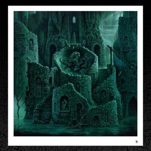Ossuarium. 'Living Tomb'. Album Cover