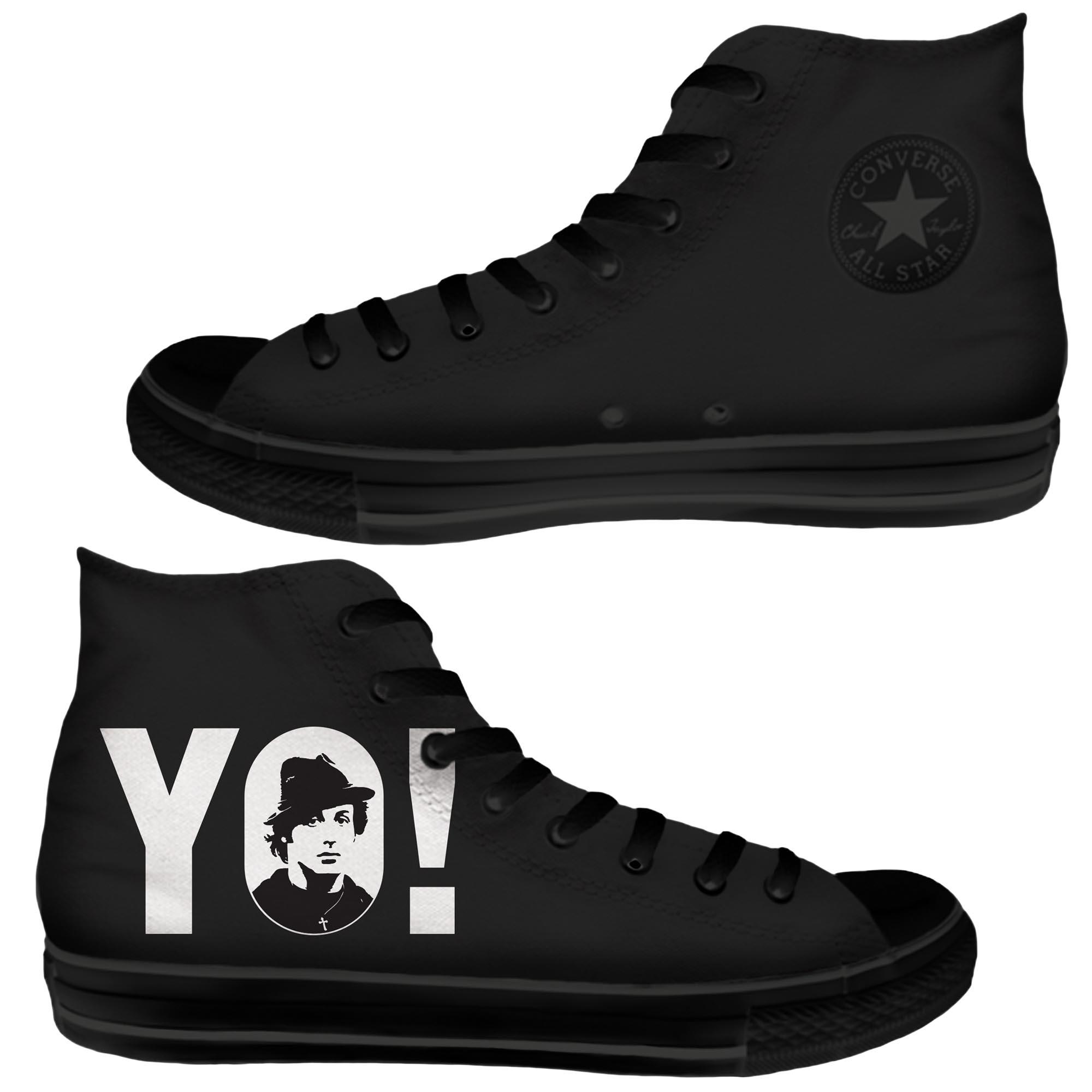 YO! Custom Hi-top Chucks Sneakers
