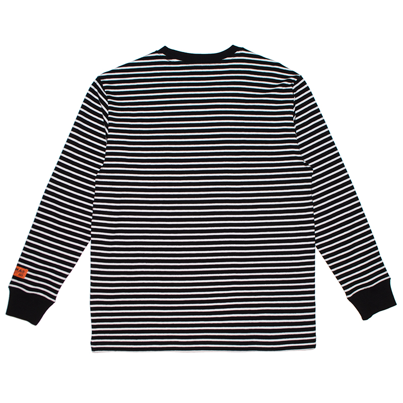 Keep Watch Striped Long-sleeve Knit Tee