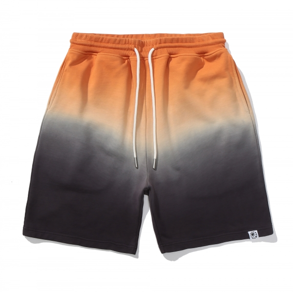 Cyrillic Flash Dip Dye Fleece Shorts