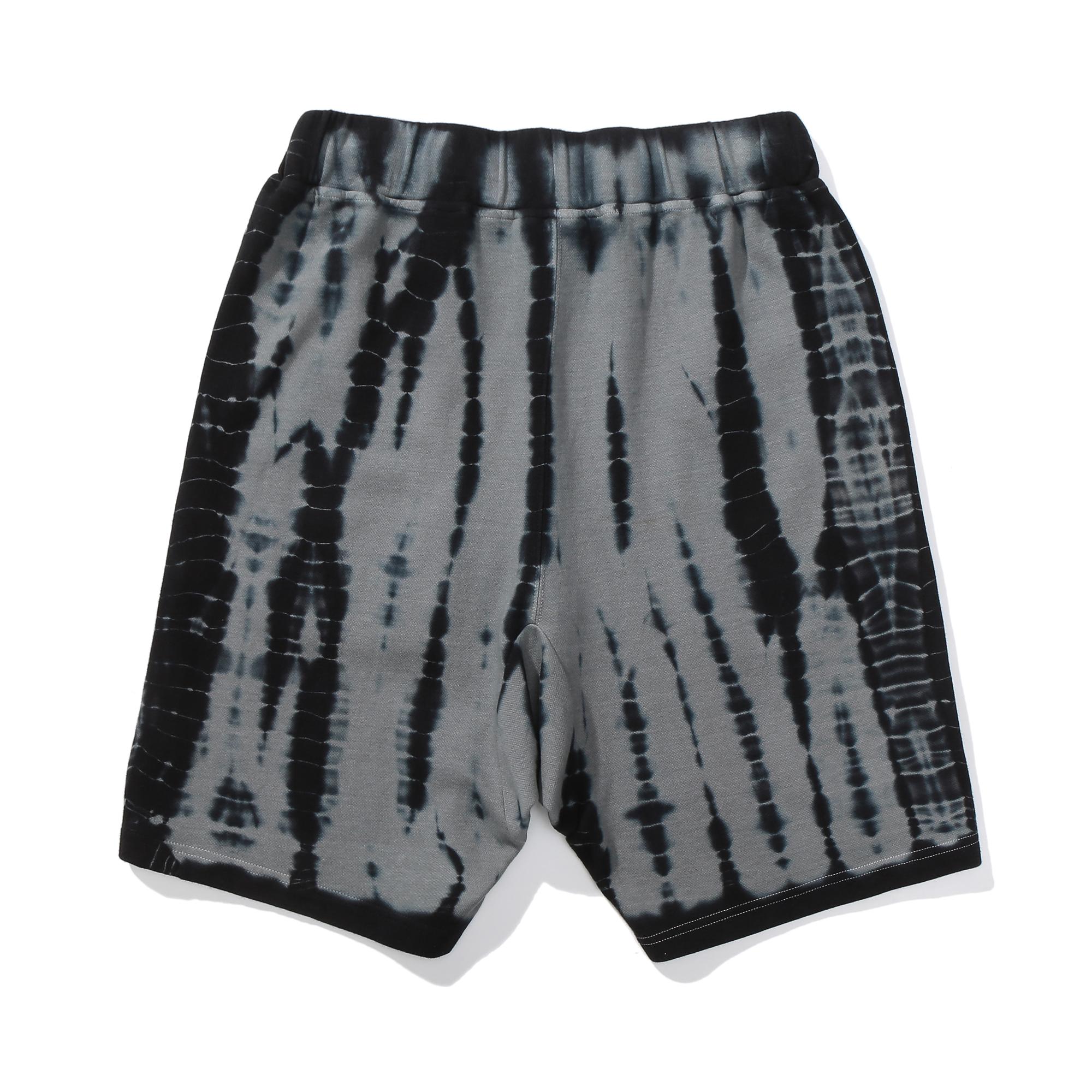 Bear Mop Tye Dye Cotton Shorts