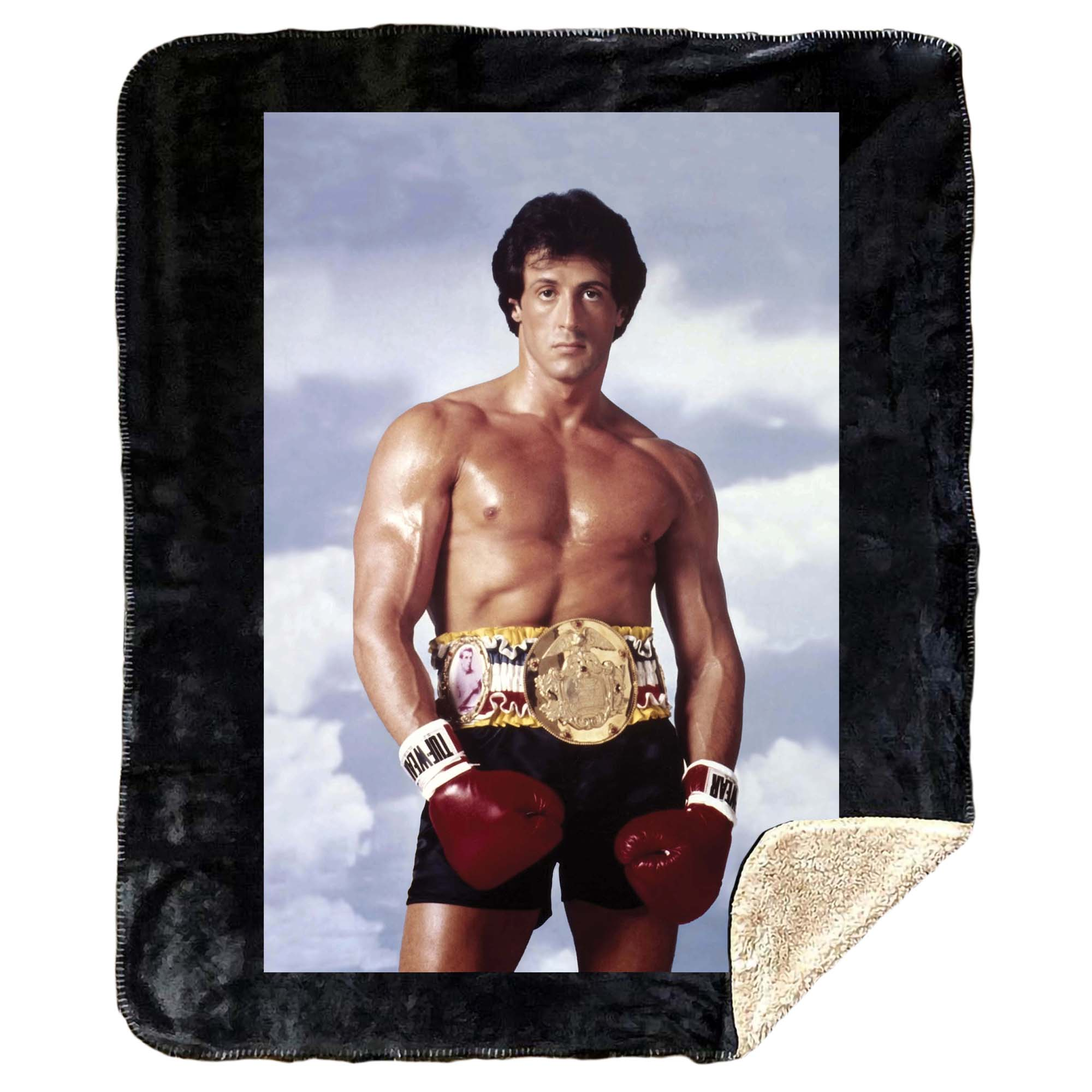 Rocky III Fleece Sherpa Blanket