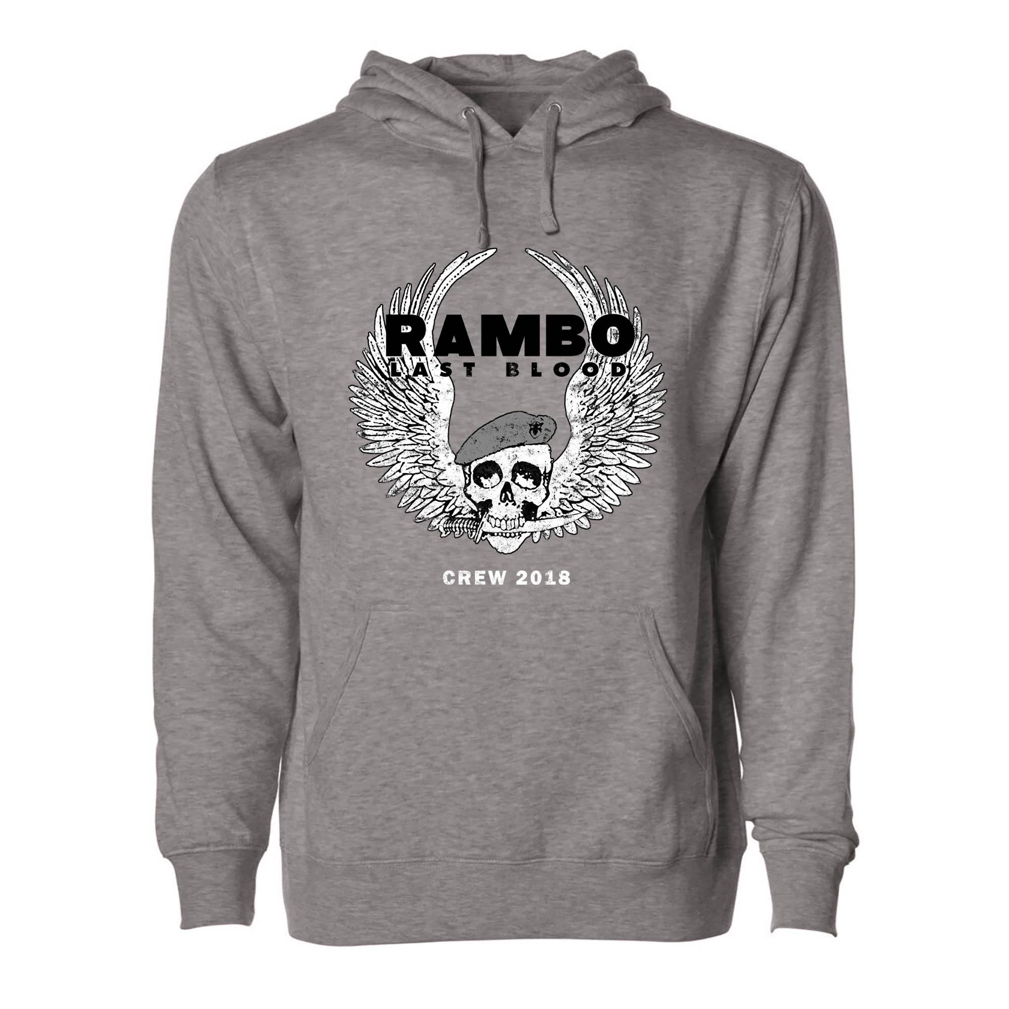 RAMBO LAST BLOOD Cast & Crew Pullover Hoodie