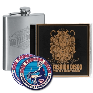 Pre-Order: CD/Sticker/Patch/Flask Bundle