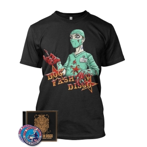 CD/Sticker/Patch/Dr. Piranha tee Bundle