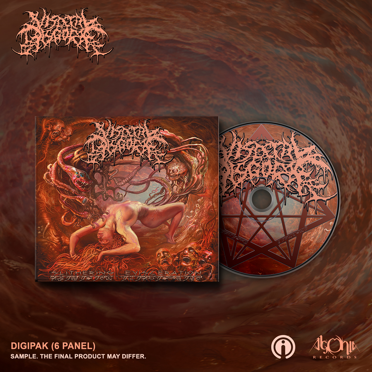 Slithering Evisceration Deluxe CD + Cover Bundle