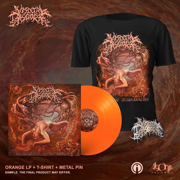 Slithering Evisceration Deluxe LP + Cover Bundle