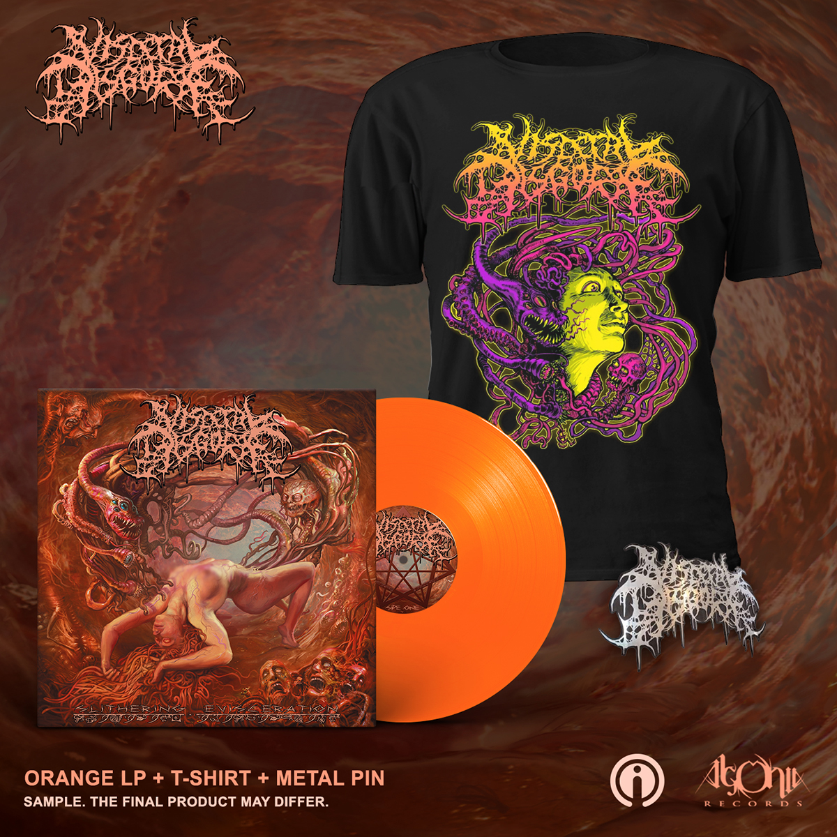 Slithering Evisceration Deluxe LP + Face Bundle