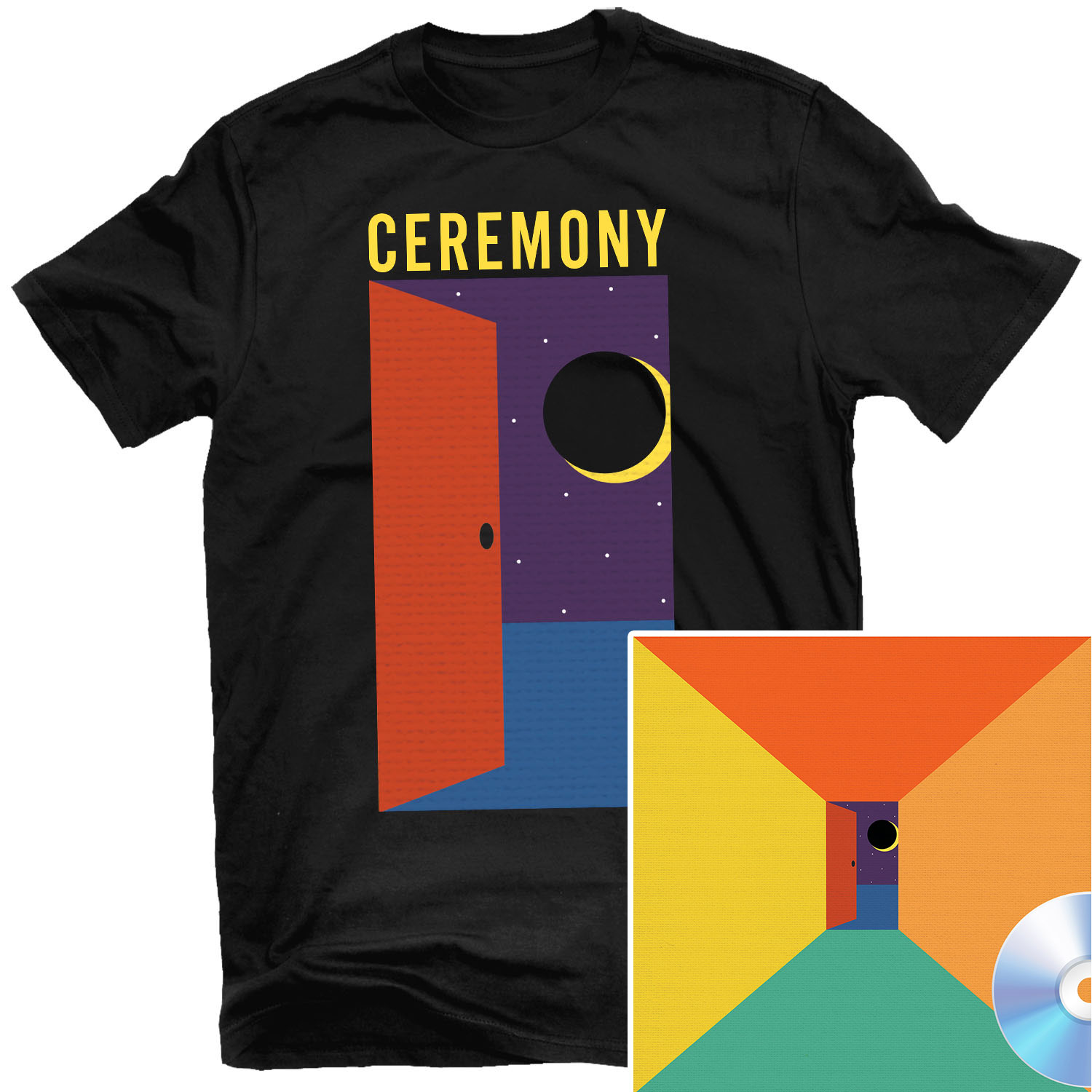 In The Spirit World Now (Night) T Shirt + CD Bundle