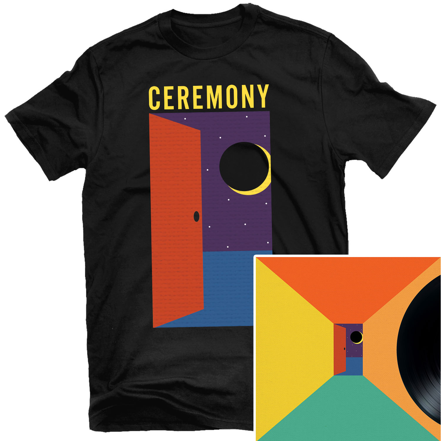 In The Spirit World Now (Night) T Shirt + LP Bundle