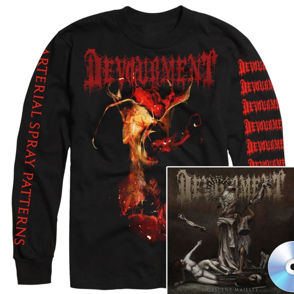 Obscene Majesty Long Sleeve Shirt + CD Bundle