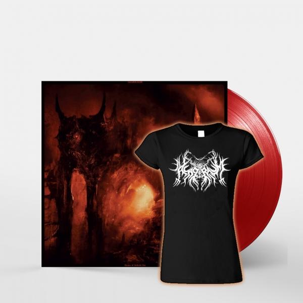Asagraum 'Dawn of Infinite Fire' LP (Red) + Girlie Bundle