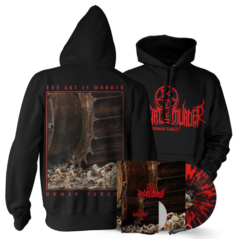 Pullover CD/Vinyl Bundle (Red/Black Splatter Import)