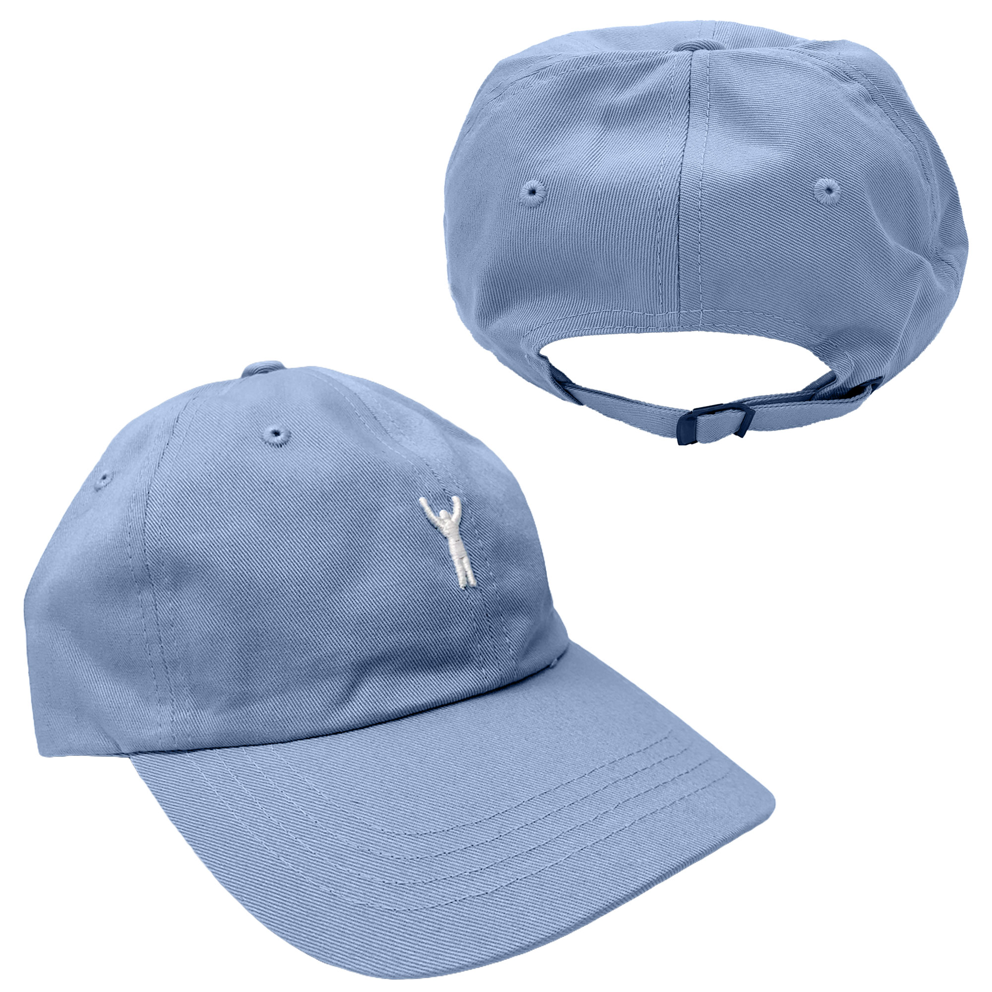Rocky Statue Dad Hat Light Blue
