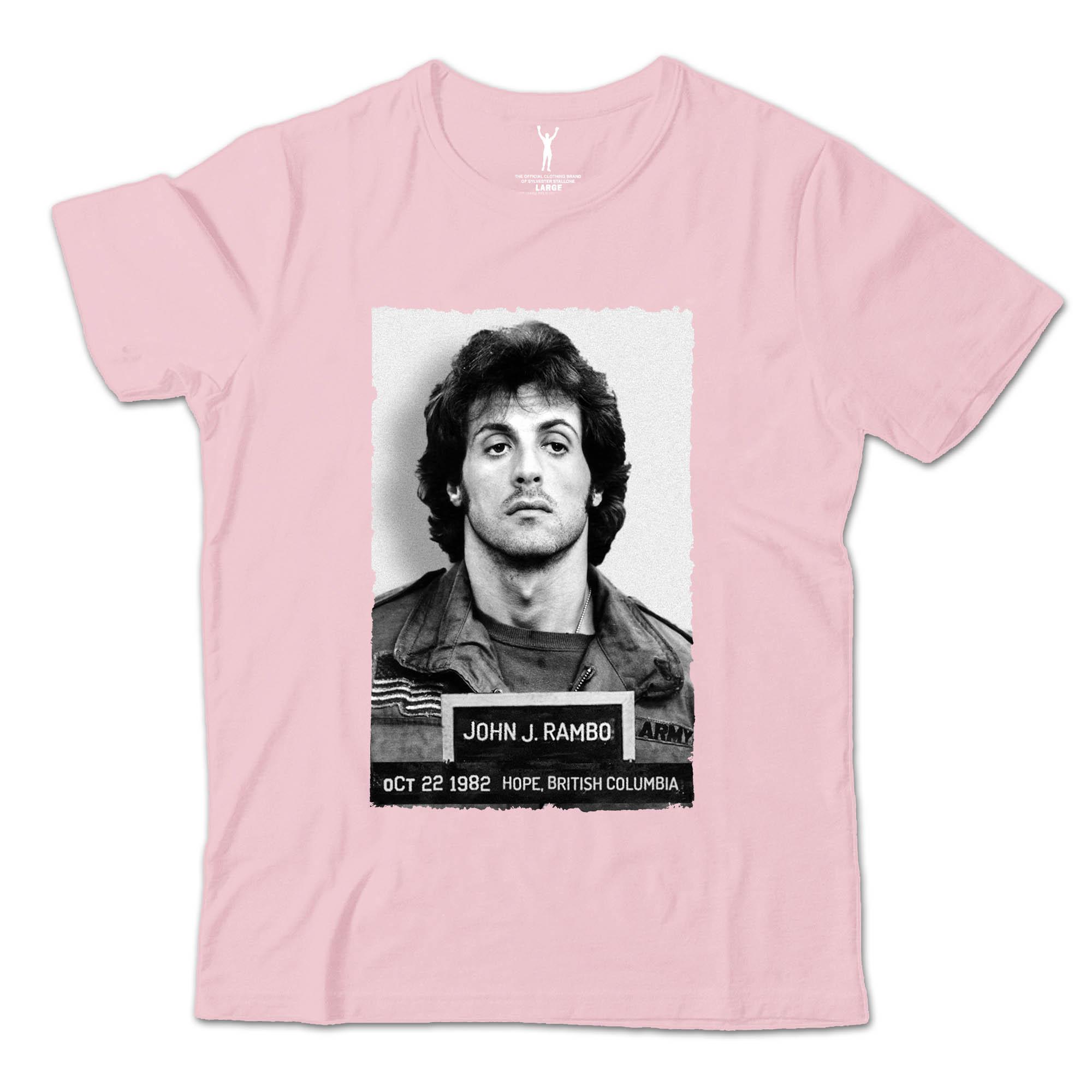 John Rambo Pink Mugshot Tee