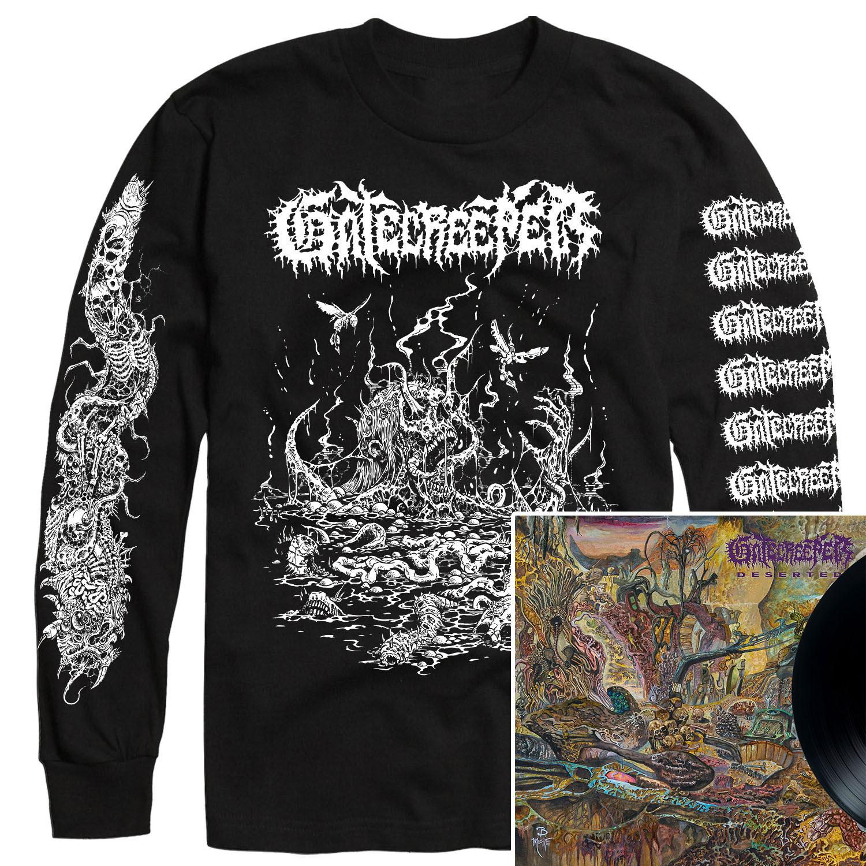 Deserted Longsleeve Shirt + LP Bundle
