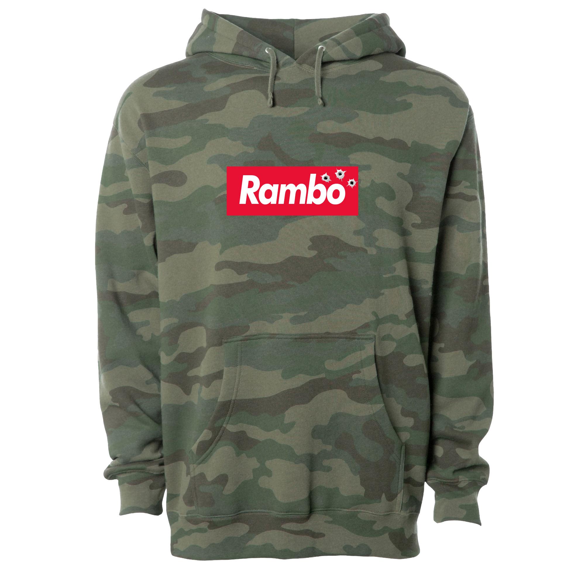 RAMBO Camo Pullover Hoodie