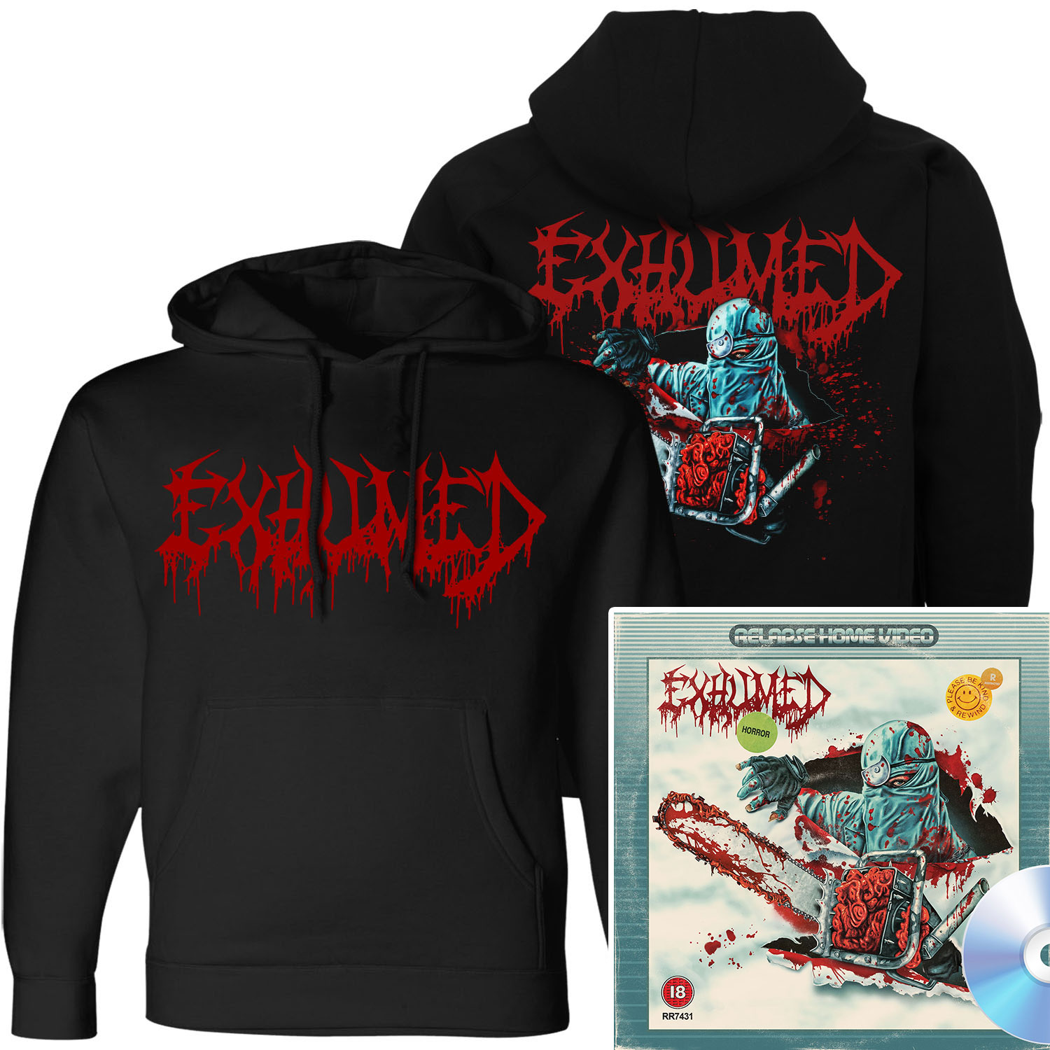 Horror Pullover Hoodie + CD Bundle