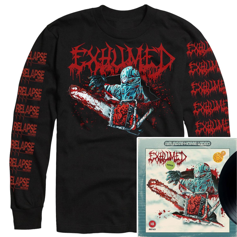 Horror Longsleeve Shirt + LP Bundle