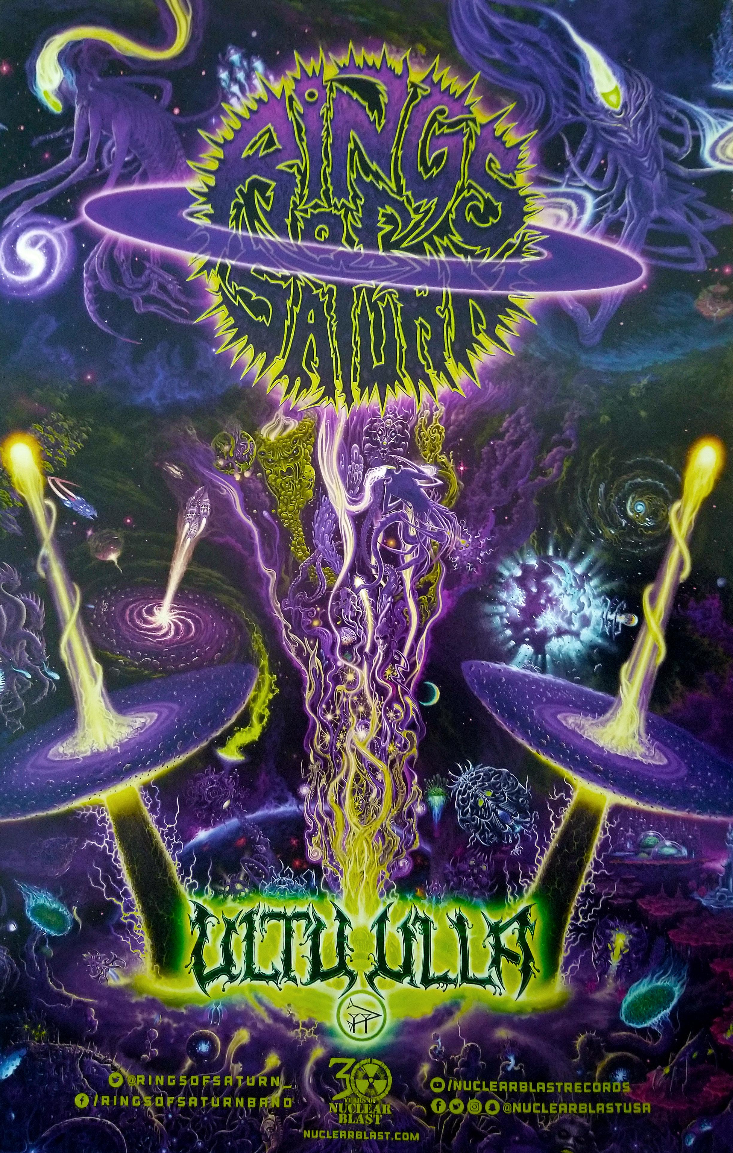 Rings Of Saturn Ultu Ulla Album Release Tour Poster Posters