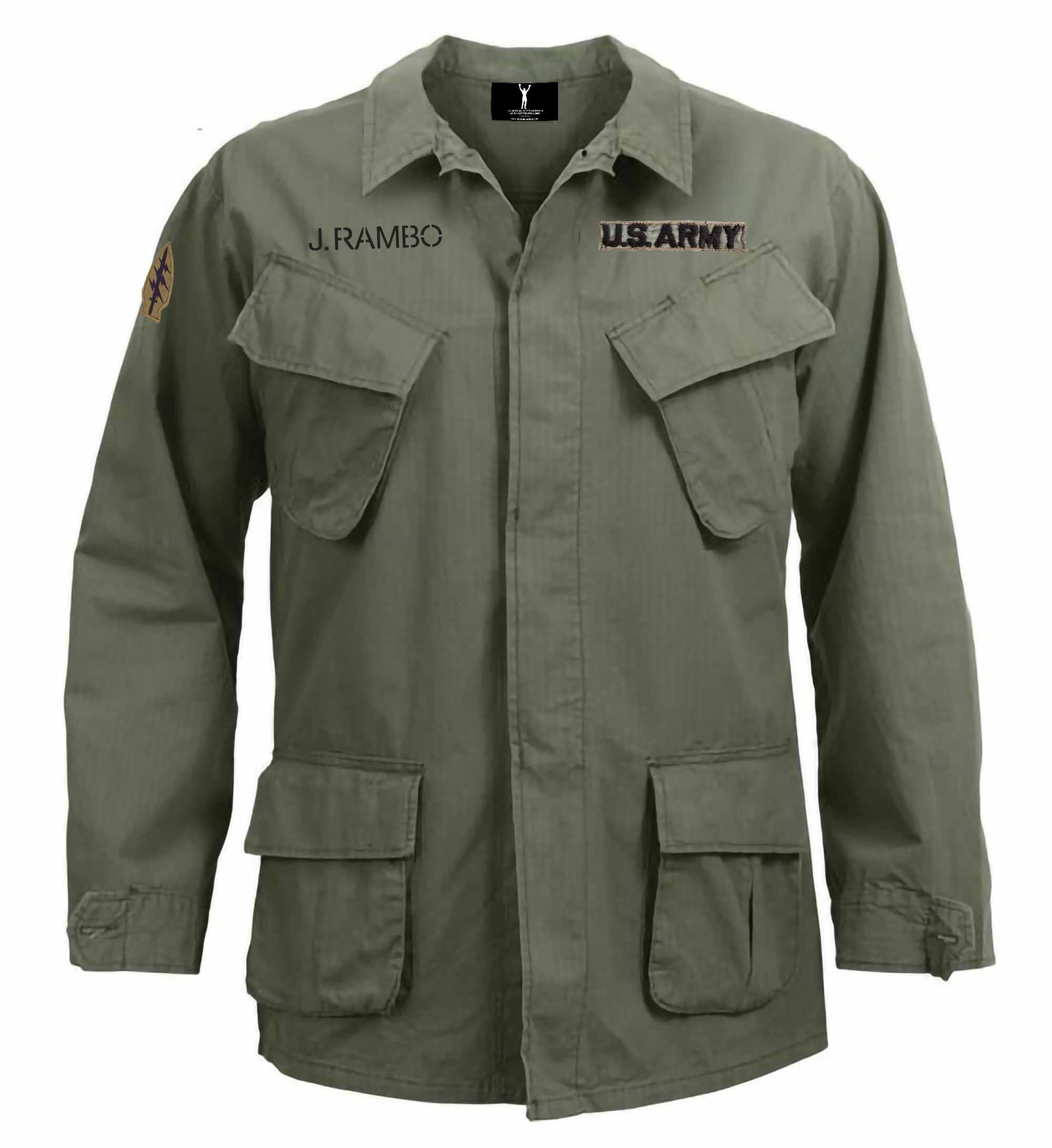 John Rambo Vintage Vietnam Fatigue Shirt