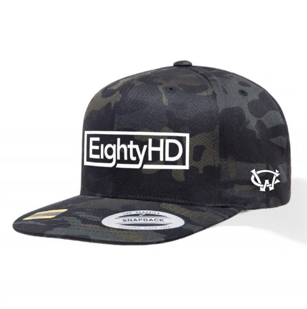 EightyHD Black Camo Snapback Cap