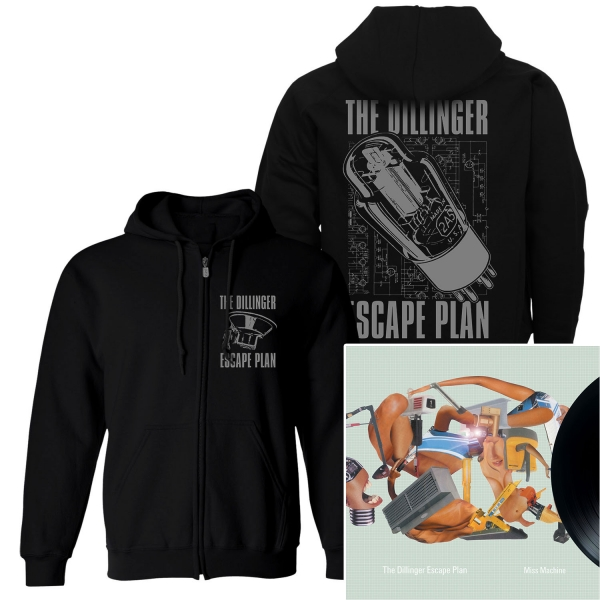 Transistor Zip Up Hoodie + Miss Machine Reissue LP Bundle