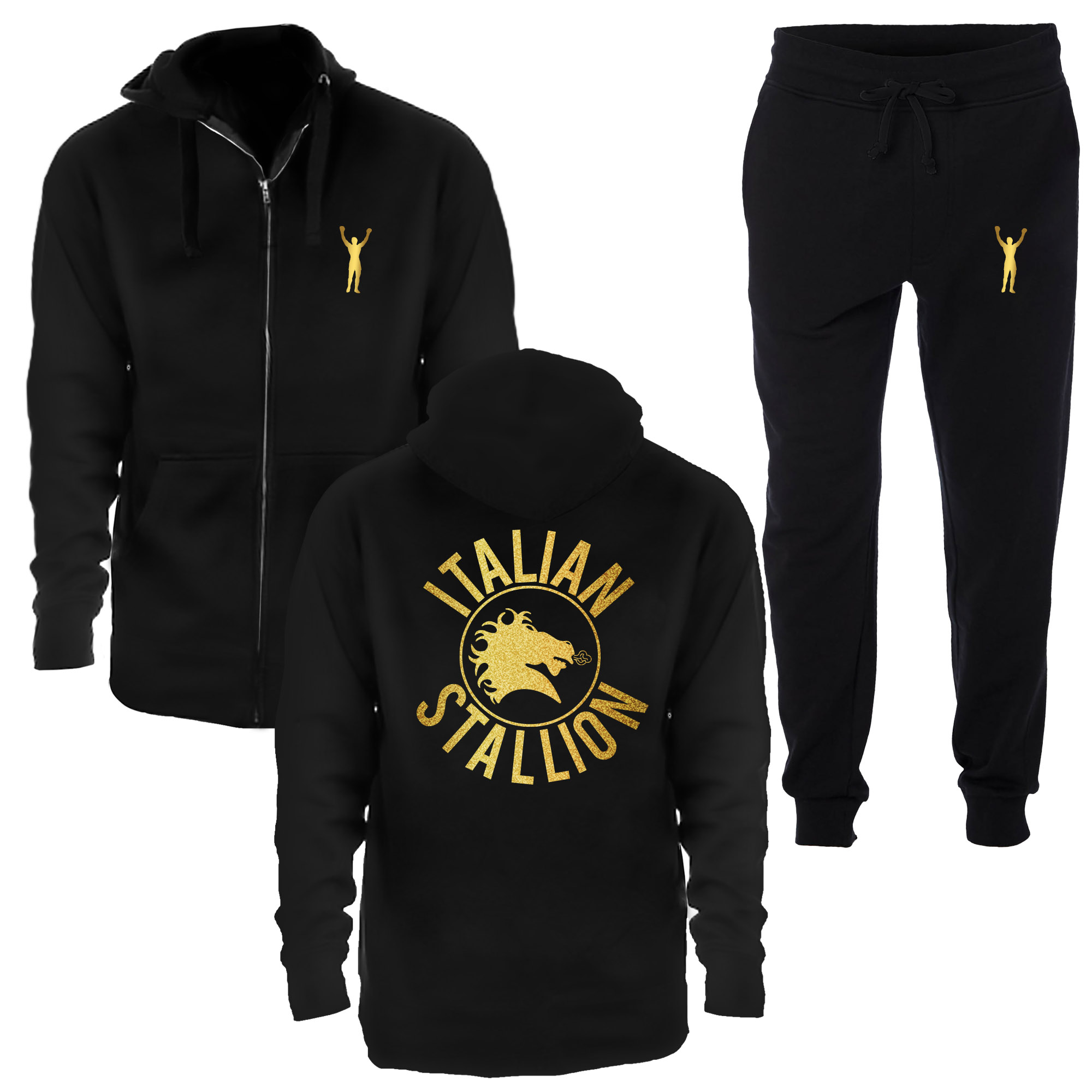 Italian Stallion Metallic Gold Jogging Suit