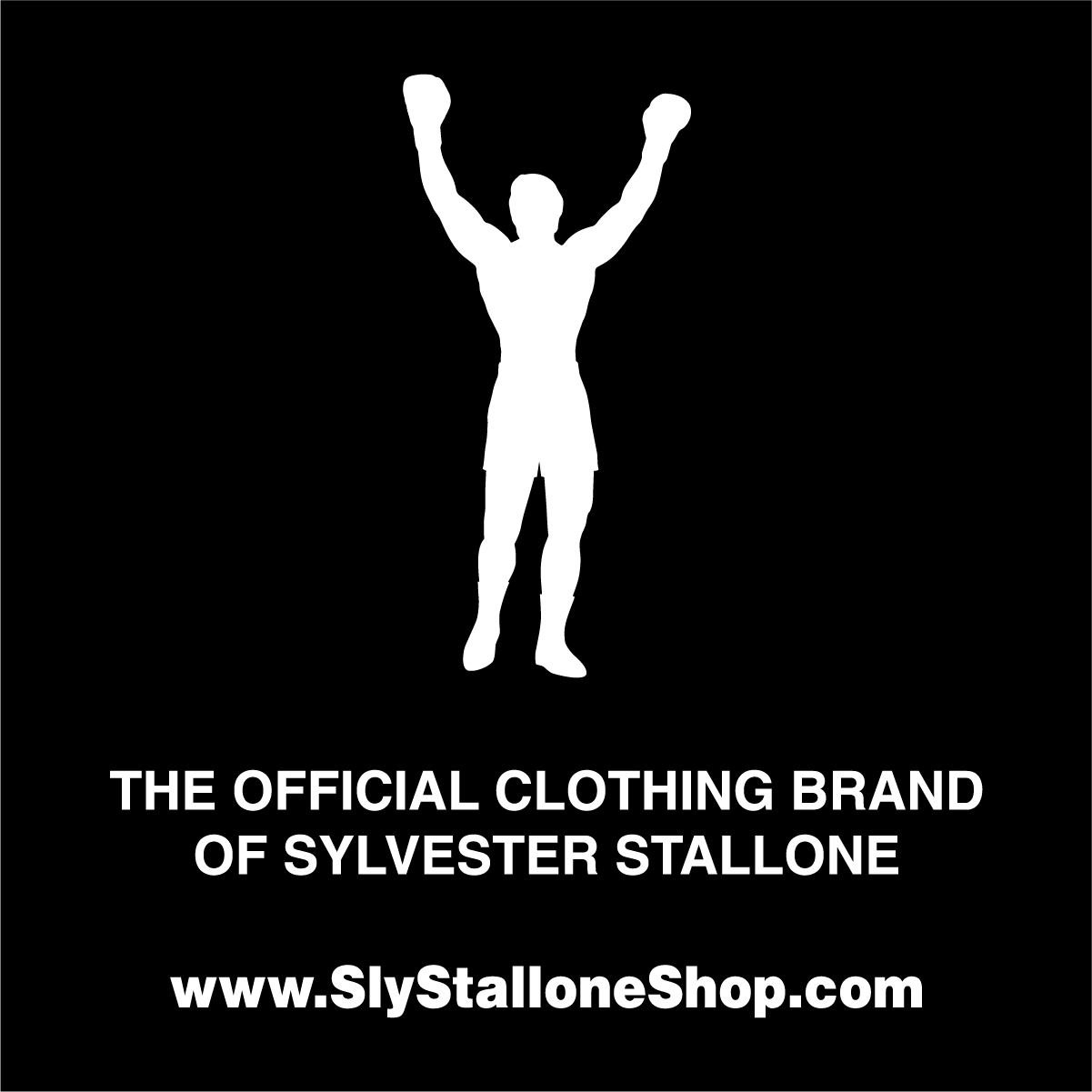 The Official Clothing Brand Of Sylvester Stallone Sticker