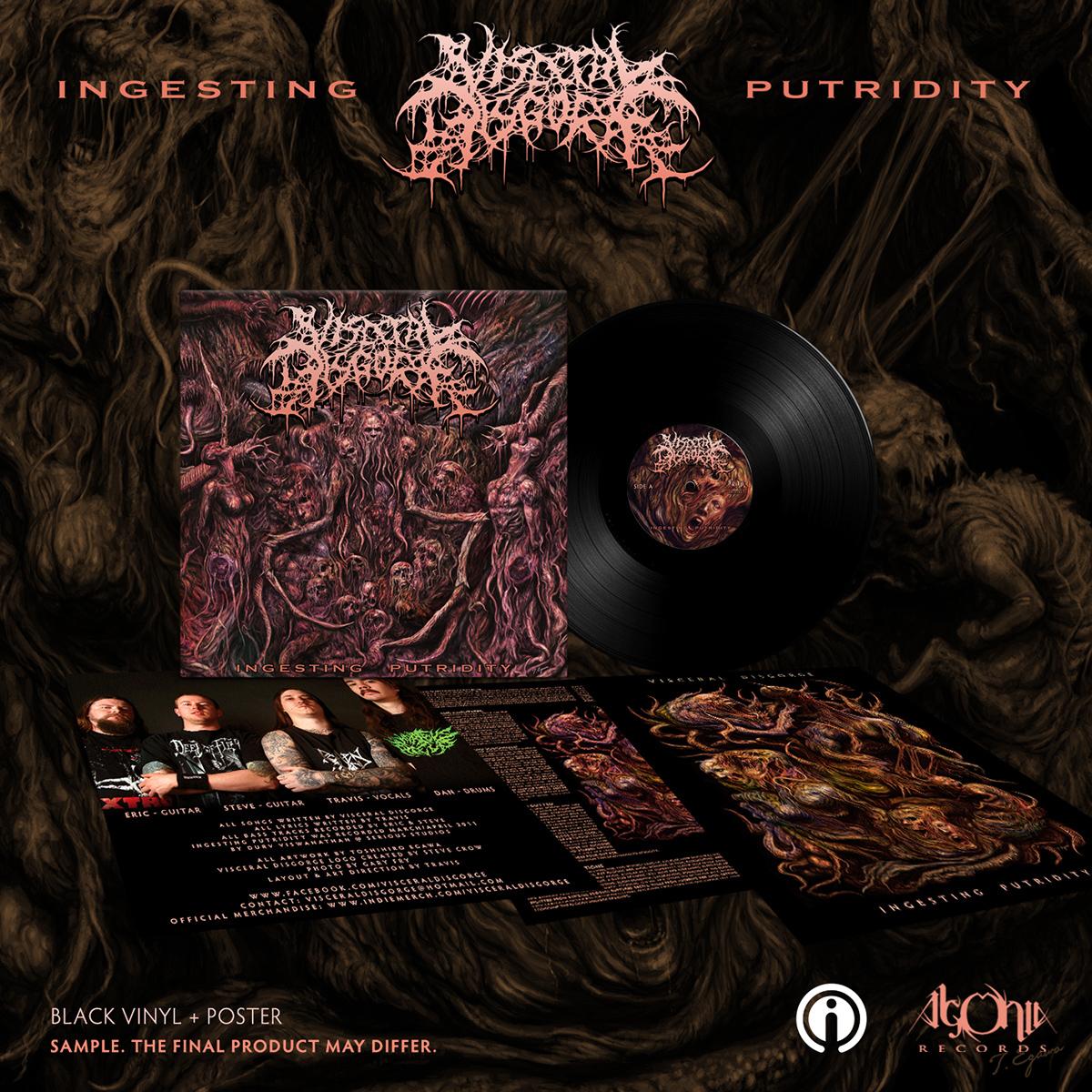 Ingesting Putridity Black Vinyl + Tee Bundle